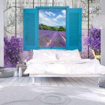 Papier peint - Lavender Recollection .Taille : 200x140 - Décoration des murs