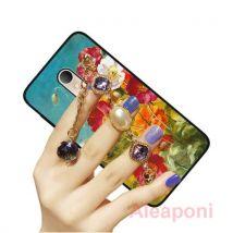 Coque Etui pour Alcatel U5 Plus Smartphone Peinture de fleurs Bracelet de bijoux de pierres précieuses Coque - Etui pour téléphone mobile