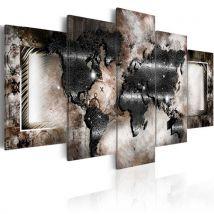 Tableau - Graphite map - Artgeist - 100x50 - Décoration murale