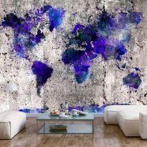 Papier peint - World Map: Ink Blots - Décoration, image, art | Carte du monde | - Décoration des murs