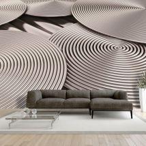 Papier peint - Copper Spirals - Décoration, image, art | 3D et Perspective | - Décoration des murs