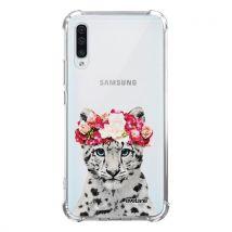 Coque pour Samsung Galaxy A70 anti-choc souple avec angles renforcés transparente Leopard Couronne Tendance [Evetane ] - Etui pour téléphone mobile