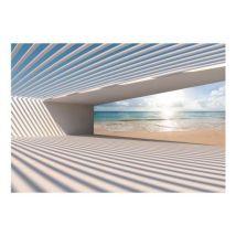 Papier peint - City Beach .Taille : 250x175 - Décoration des murs