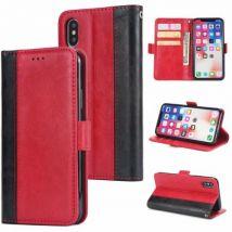 Etui En Cuir Élégant Antichoc Portefeuille Pour Samsung Galaxy J530 - Rouge