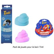Pack de jouets pour le bain Tinti avec Mousse de bain rouge & bleue +bain moussant rouge - Autres