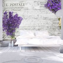 Papier peint | Lavender postcard | 250x175 | Vintage et Retro - Décoration des murs