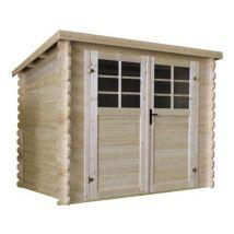 abri jardin bois -7.53 m² - 2.98 x 2.98 x 1.92 m - 28mm - Mobilier de Jardin
