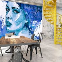 Papier peint - Blue Lady - Décoration, image, art | Personnes | - Décoration des murs