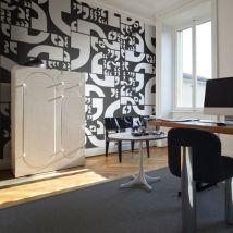 Papier peint - Virgules - Décoration, image, art   Textes   - Décoration des murs
