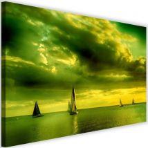 Tableau Cadre Image sur toile Impression Art Canevas Bateaux a voile 4 120x80 - Décoration murale