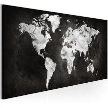 Tableau | Two | 120x40 | Cartes du monde | coloured World | - Décoration murale