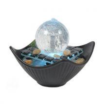 Fontaine déco boule lumineuse senjin - multicolore - Décorations d'aquarium