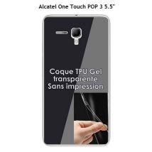 """Onozo - Coque Alcatel OneTouch POP 3 5.5"""" Transparente (TPU Gel souple) - Etui pour téléphone mobile"""
