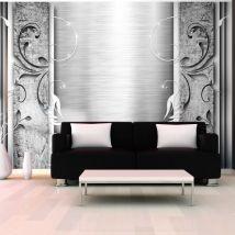 Papier peint - Feuilles en acier - Décoration, image, art | Fonds et Dessins | Ornements | - Décoration des murs