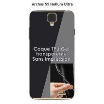 Coque Archos 55 Helium Ultra Transparente (TPU Gel souple) - Etui pour téléphone mobile