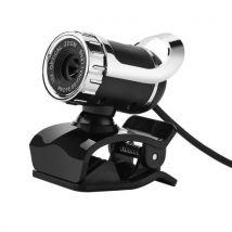 Caméra USB HD 360 degrés webcam pour ordinateur portable accessoire de bureau noir - Webcam
