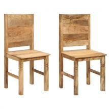 vidaXL Chaises de salle à manger 2 pcs Bois solide de manguier