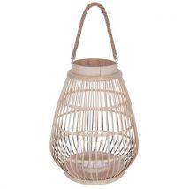 Lanterne Rattan - Diam. 35 cm - Beige - Luminaires extérieur