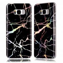 Coque De Protection En Tpu Motif De Marbre Antichoc Pour Samsung Galaxy S7 - Noir