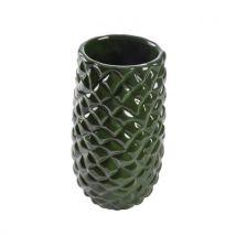 Vase ananas vert fonce 24 cm - Jardinières et bacs
