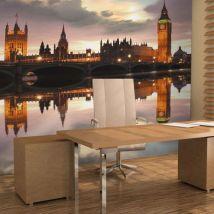 Papier peint | Soirée à Londres, Big Ben | 400x309 | Ville et Architecture | Londres - Décoration des murs