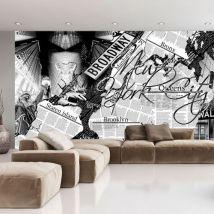 Papier peint | New York news | 450x280 | Street art - Décoration des murs
