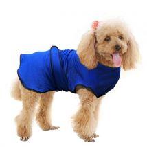 Manteau rafraichissant pour chien manteau d'été taille M polyester bleu - Jouets et vêtements pour chien
