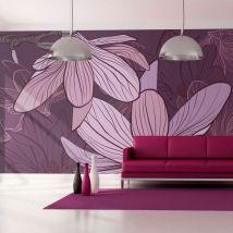 Papier peint   Violet magnolias   400x309   Fleurs   Autres fleurs - Décoration des murs