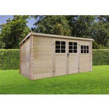 abri jardin bois - 9.92 m² - 3.88 x 2.98 x 1.91 m - 34mm - Mobilier de Jardin