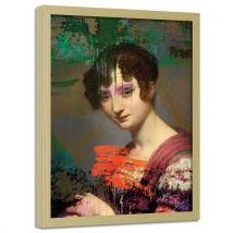 Feeby Image encadrée Art imprimé Tableau moderne cadre nature, Regard violet 50x70 cm - Décoration murale
