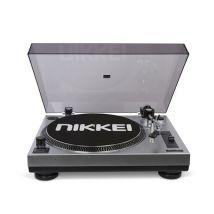 Nikkei NTT15U Tourne-Disque (à entrainement Direct, 33/45 Tours, RCA, Sortie USB) - Noir - Platine vinyle