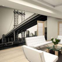 Papier peint   Pont de Manhattan, New York   350x270   Ville et Architecture   New York - Décoration des murs
