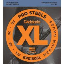 D'addario EPS160SL médium 50-105 - Jeu cordes guitare basse - Accessoire pour guitare