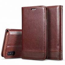 Etui En Cuir Folio Durable Portefeuille Multifonctionnel Pour Huawei P30 - Brun