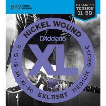 D'Addario EXL115BT - Médium 11-50 - Jeu de cordes guitare électrique - Accessoire pour guitare