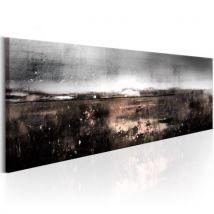 Tableau - Pré hivernal .Taille : 150x50 - Décoration murale
