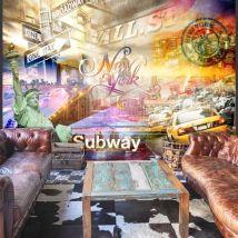 Papier peint - Colorsof NYC - Décoration, image, art | Ville et Architecture | New York | - Décoration des murs