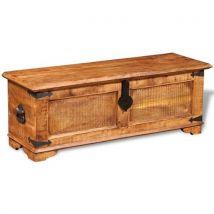 vidaXL Coffre de stockage en bois brut manguier - Mobilier de Jardin