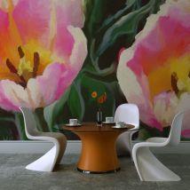 Papier peint   tulipes duo   450x270     - Décoration des murs