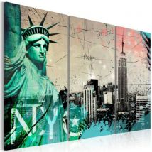 Tableau - NYC collage .Taille : 120x80 - Décoration murale
