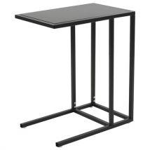 vidaXL Table en C Métal 35 x 55 x 65 cm Noir