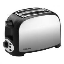 Grille pain finition inox format court 800w 2 fentes - triomph etf2087 - Petit-déjeuner