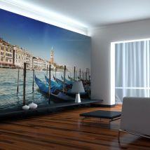 Papier peint | Gondoles et campanile de Saint | 300x231 | Ville et Architecture | Venise | Marc de Venise - Décoration des murs