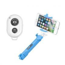 Perche Selfie Trepied Bluetooth Ozzzo Bleu Pour Apple Ipod Nano 6g