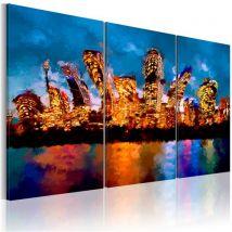 Tableau - Mad city - triptych - Artgeist - 60x40 - Décoration murale