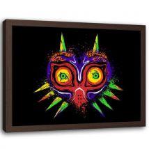 Feeby Image encadrée déco Tableau Impression cadre marron, Diable exotique 60x40 cm - Décoration murale
