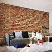 Papier peint - Brick Wall .Taille : 100x70 - Décoration des murs