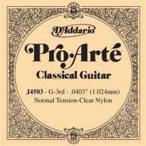 Corde au détail guitare classique D'Addario Pro-Arte Sol réassort du jeu EJ45 - J4503 - Accessoire pour guitare