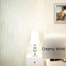 Papier Peint Courbe Motif Floqué Moderne De Luxe 3d Blanc 5.3m2 - Décoration des murs