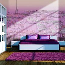 Papier peint - Vendredi soir à Paris - Décoration, image, art | Ville et Architecture | Paris | - Décoration des murs